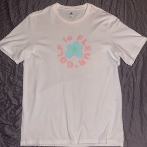 GOLF le FLEUR x Converse logo tee / white / L